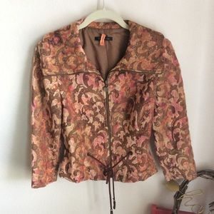 David Meister Chenille Tapestry Fitted Jacket